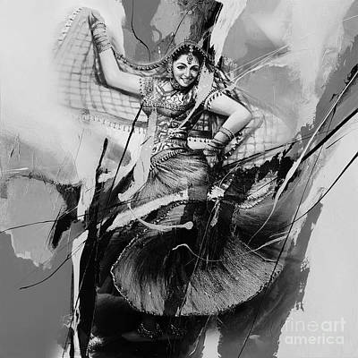 Indian Folk Art Painting - Kathak Dance 10gt by Gull G