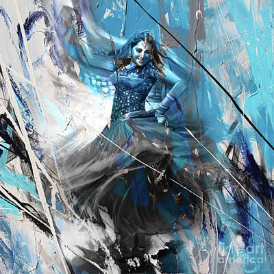 Indian Folk Art Painting - Kathak Dancer 330jq by Gull G