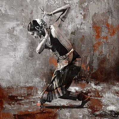 Kathak Dancer A1 Original by Gull G