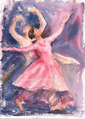 Painting - Kathak Dancers by Asha Sudhaker Shenoy