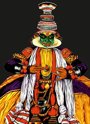 Kathakali Painting - Kathakali 1 by Pratiksha Somnath Bothe