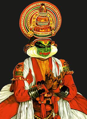 Kathakali Painting - Kathakali 2 by Pratiksha Somnath Bothe