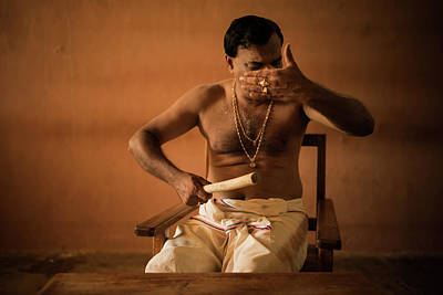 Photograph - Kathakali Conductor by Lucas Dragone