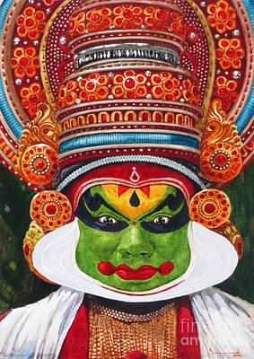 Kathakali Painting - Kathakali Dancer 2 by Jeyaprakash M