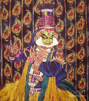 Kathakali Dancer Painting - Kathakali Dancer by Narayani  Arts