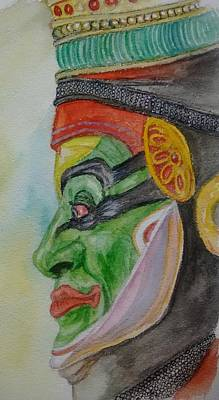 Kathakali Painting - Kathakali Dancer by Nitin Chaudhari