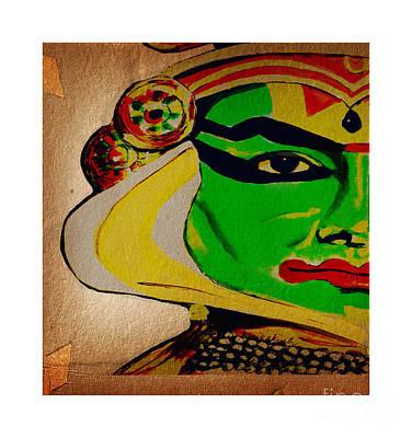 Kathakali Dancer Painting - Kathakali Dancer Of India by Kanika
