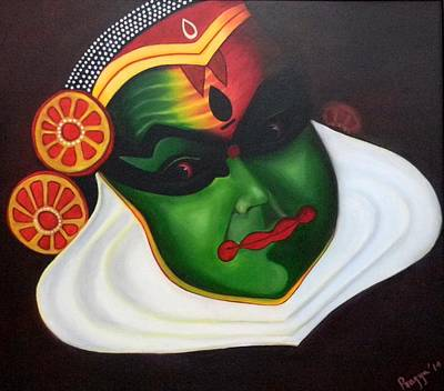 Kathakali Dancer Painting - Kathakali Dancer by Pragya  Suman