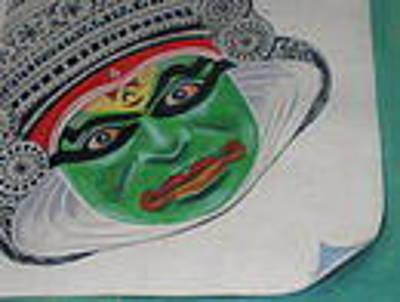 Kathakali Dancer Painting - Kathakali Dancer by Sunil dutt Mamgain