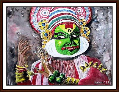Kathakali Painting - Kathakali  by Kalyan Bandyopadhyay