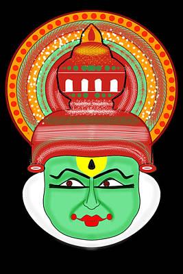 Painting - Kathakali Pacha Vesham by Pratyasha Nithin