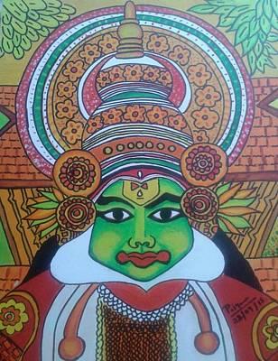 Kathakali Painting - Kathakali  by Priya Perumpilavil