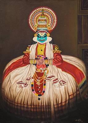 Kerala Painting - Kathakali by Rajeev M Krishna