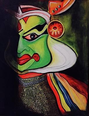 Kathakali Painting - Kathakali by Sonal P