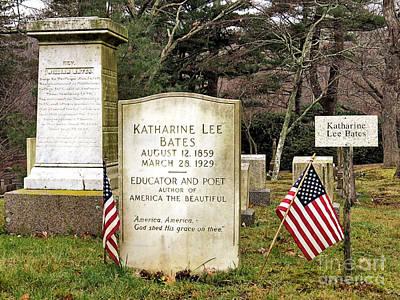 Photograph - Katharine Lee Bates Gravesite by Janice Drew
