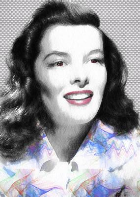 Digital Art - Katharine Hepburn by Ericamaxine Price