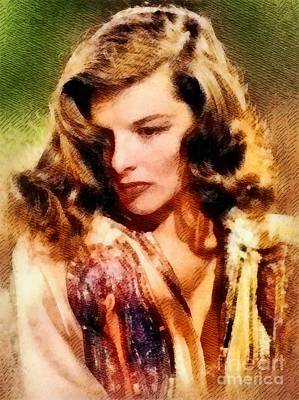 Musicians Royalty Free Images - Katharine Hepburn, Hollywood Legend by John Springfield Royalty-Free Image by Esoterica Art Agency
