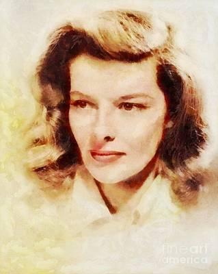 Katharine Hepburn Painting - Katharine Hepburn, Vintage Hollywood Legend by Sarah Kirk