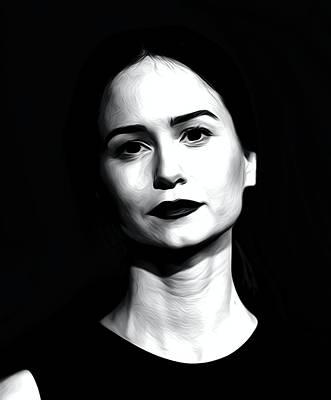 Actor Digital Art - Katherine Waterston by Best Actors