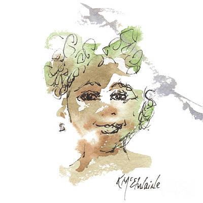 Painting - Kathleens Tronie by Kathleen McElwaine