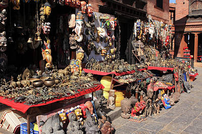 Photograph - Kathmandu Street Stall by Aidan Moran