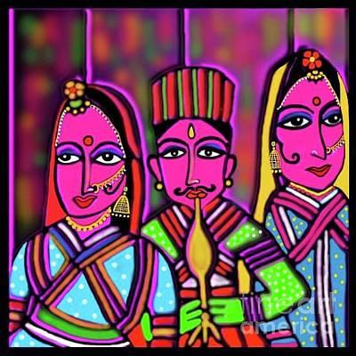 Digital Art - Kathputli by Latha Gokuldas Panicker