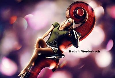 Music Photograph - Kathrin Werderitsch by Mariel Mcmeeking