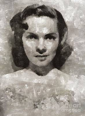 Elvis Presley Painting - Kathryn Grayson, Actress by Mary Bassett