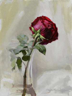 Red Rose Painting - Big Rose by Ben Hubbard