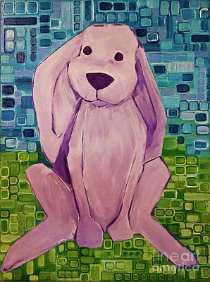 Painting - Kathy's Lop-eared Rabbit by Donna Howard