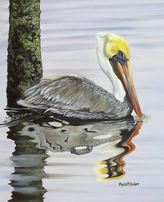 Painting - Kathy's Pelican by Phyllis Beiser