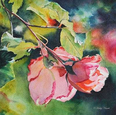 Painting - Kathy's Roses by Kathy Nesseth