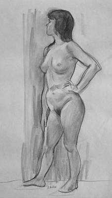 Drawing - Katie Standing by Robert Holden