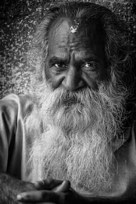 Katmandu Holy Man Portrait Art Print