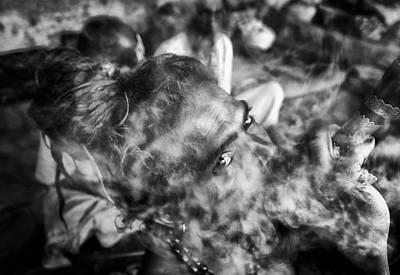 Katmandu Smoking 2 Art Print