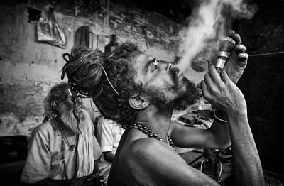 Katmandu Smoking 3 Art Print