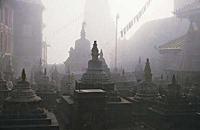 Katmandu Temple,nepal Print by David Edwards