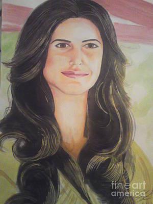 Intezaar Painting - Katrina Kaif 2010 by Sandeep Kumar Sahota