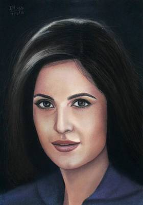 Katrina Kaif - Pastel Art Print