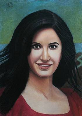 Painting - Katrina - The Beauty Of India by Vishvesh Tadsare