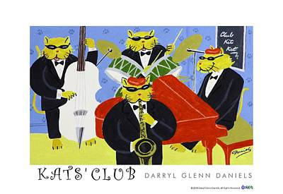 Painting - Kats Club by DG Daniels