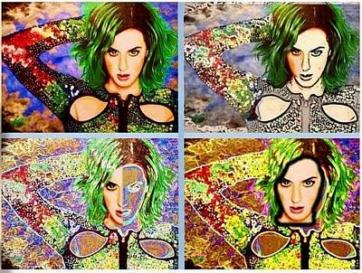 Painting - Katy Perry expanded by David Rhys