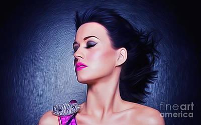 Mixed Media - Katy Perry by Ian Mitchell