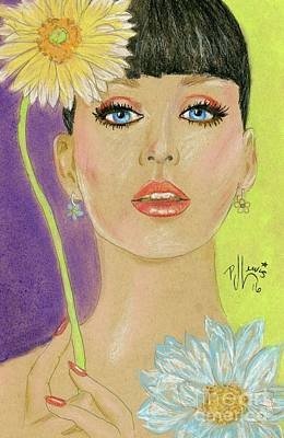 Famous Women Singers Drawing - Katy Perry by PJ Lewis