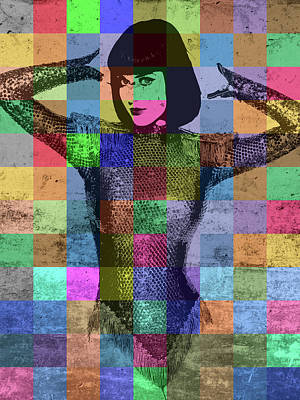 Musicians Mixed Media - Katy Perry Pop Art Patchwork Colorful Portrait by Design Turnpike