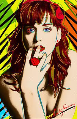 Snoop Dogg Digital Art - Katy Perry by VJay Seminiano