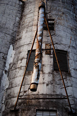 Photograph - Katy Rice Silos 2 by Nathan Little