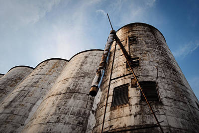 Photograph - Katy Rice Silos 3 by Nathan Little