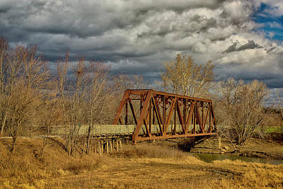 Photograph - Katy Trail Rr Bridge Over Auxvasse Creek Dsc09234-1 by Greg Kluempers