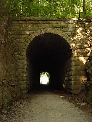 Katy Trail State Park Tunnel Art Print